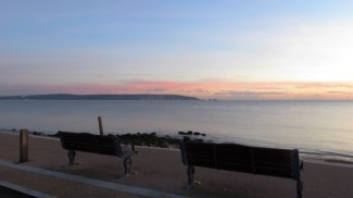 Sunset over Isle of Wight