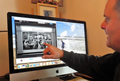 Mike Smith showing photos