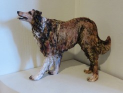 Collie sculpture