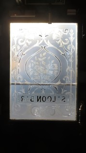 Etched Glass Window