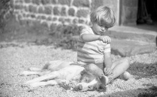 Sam and dog 9.85