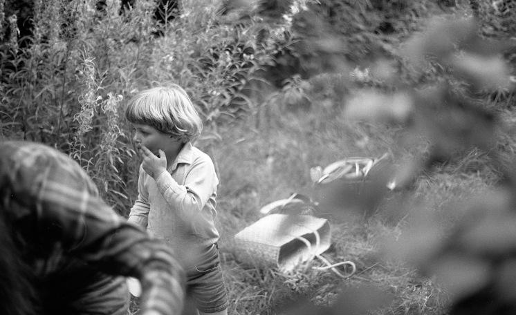Sam blackberrying 1985