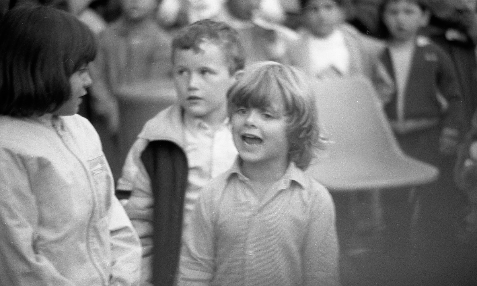Sam in Punch and Judy crowd 1985