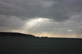 Cloudscape with Jesus Beams over Isle of Wight