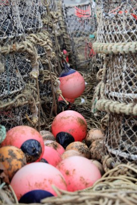 Buoys and crab pots