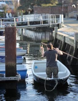 Fisherman in boat