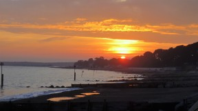 Sunset over Friars Cliff