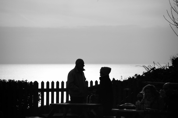 Silhouetted couple 1