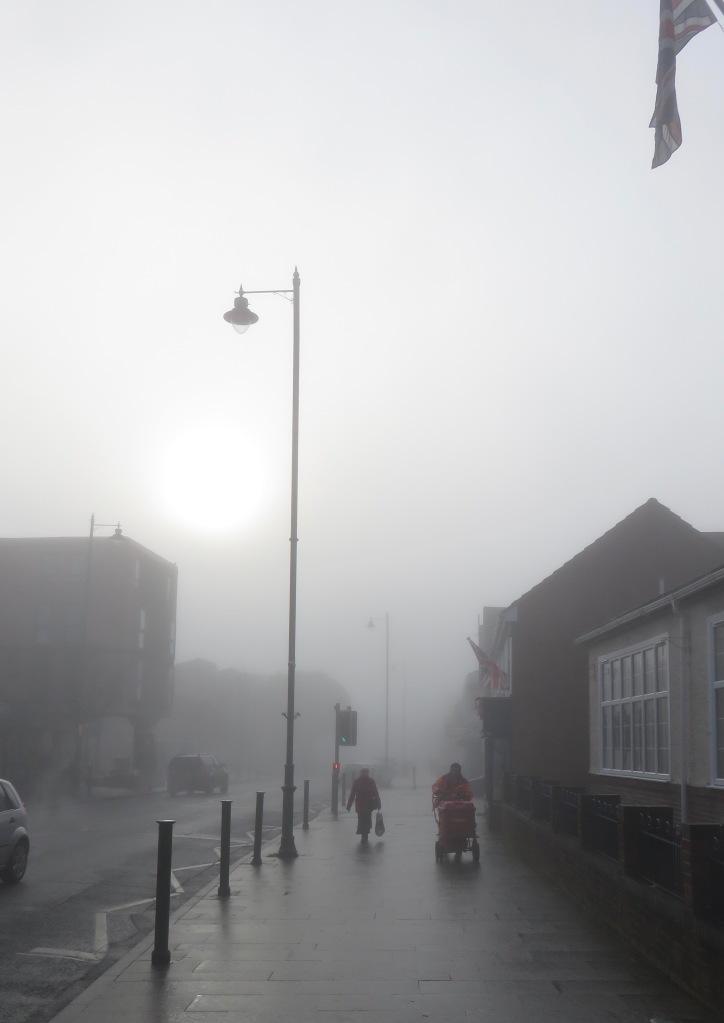 New Milton in mist