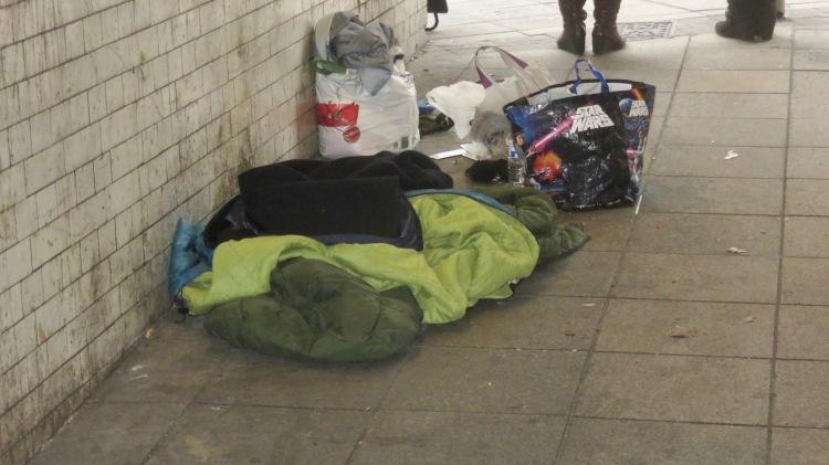 Sleeping bag and belongings