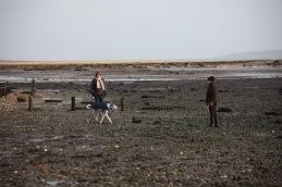 Women walking lurcher 2