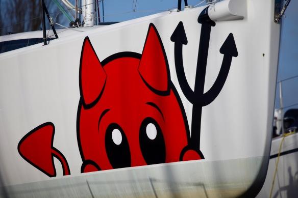 Devil on hull