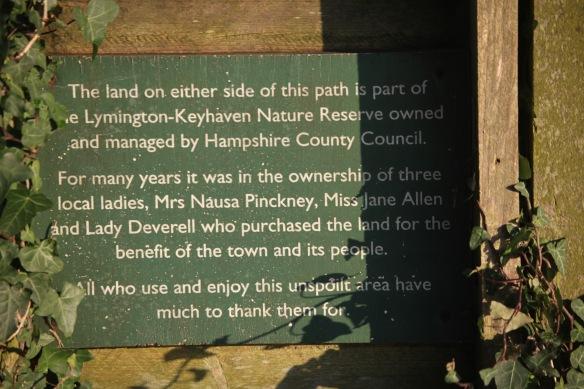 Pinckney Path sign