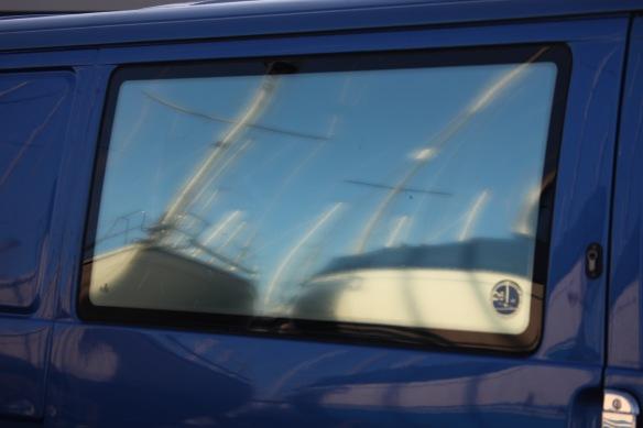 Reflection on car window