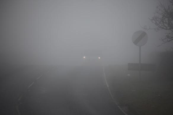 Christchurch Road in fog