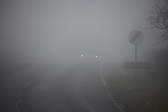 Christchurch Road in fog