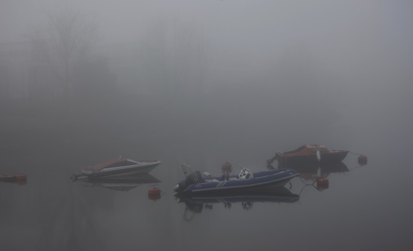 Boats in fog 1