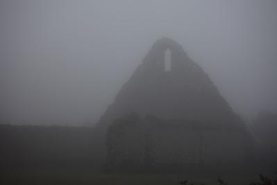 St Leonard's Grange in fog 1