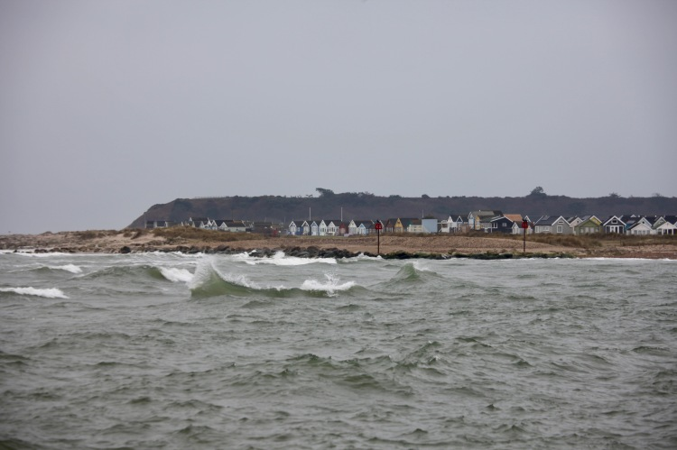 Waves and beach huts