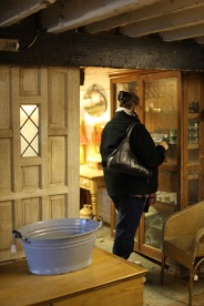 Jackie inside Gordleton Barn