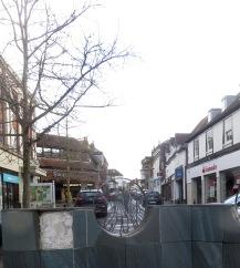 Sculpture and High Street 1