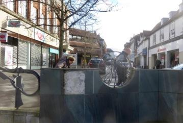 Sculpture and High Street 2