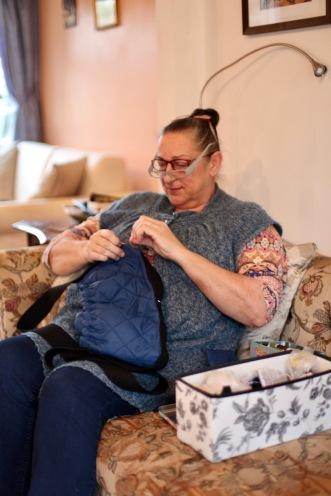 Jackie sewing 1