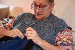 Jackie sewing 2