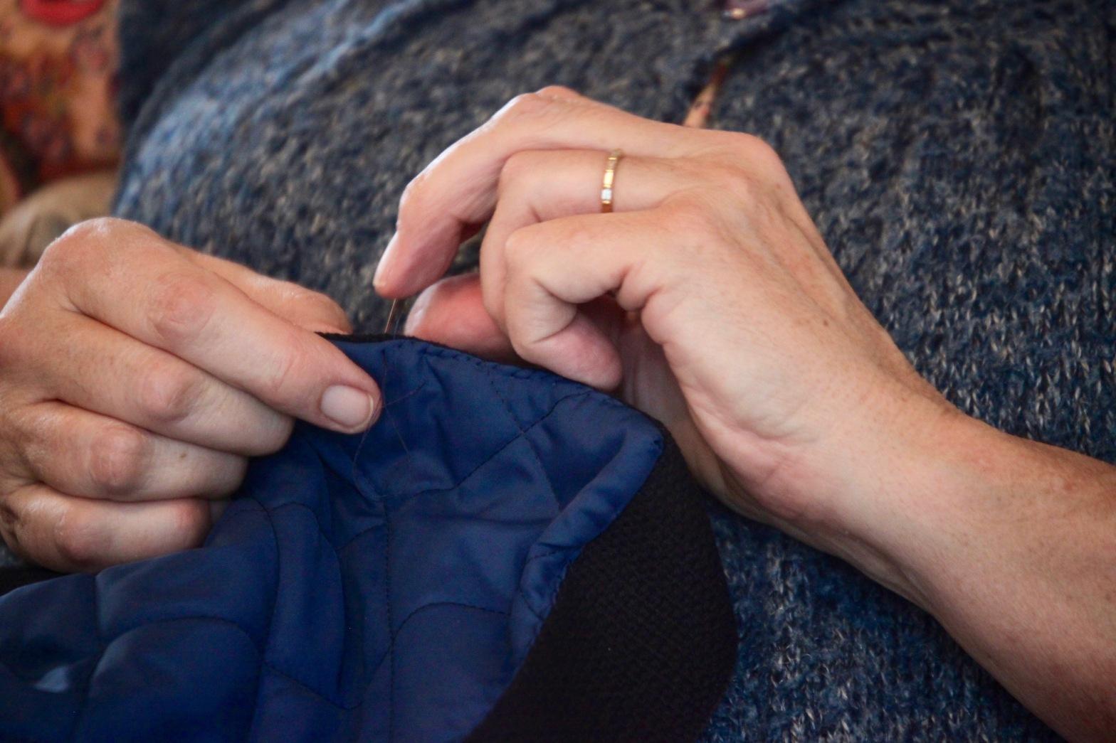 Jackie sewing 4