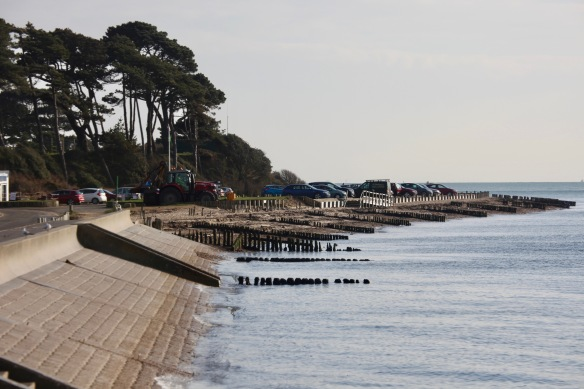 Seafront with car park