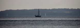 Yachts passing Isle of Wight 2