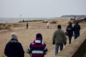 Families on beach 1