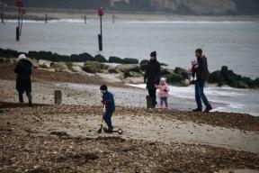 Families on beach 2
