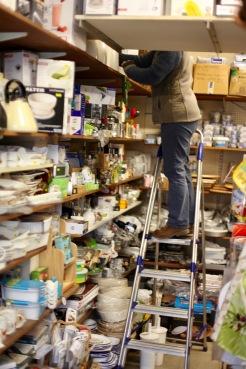 Shelf stacking