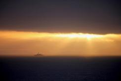 Ship in sunset 2