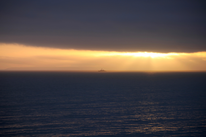 Ship in sunset 3