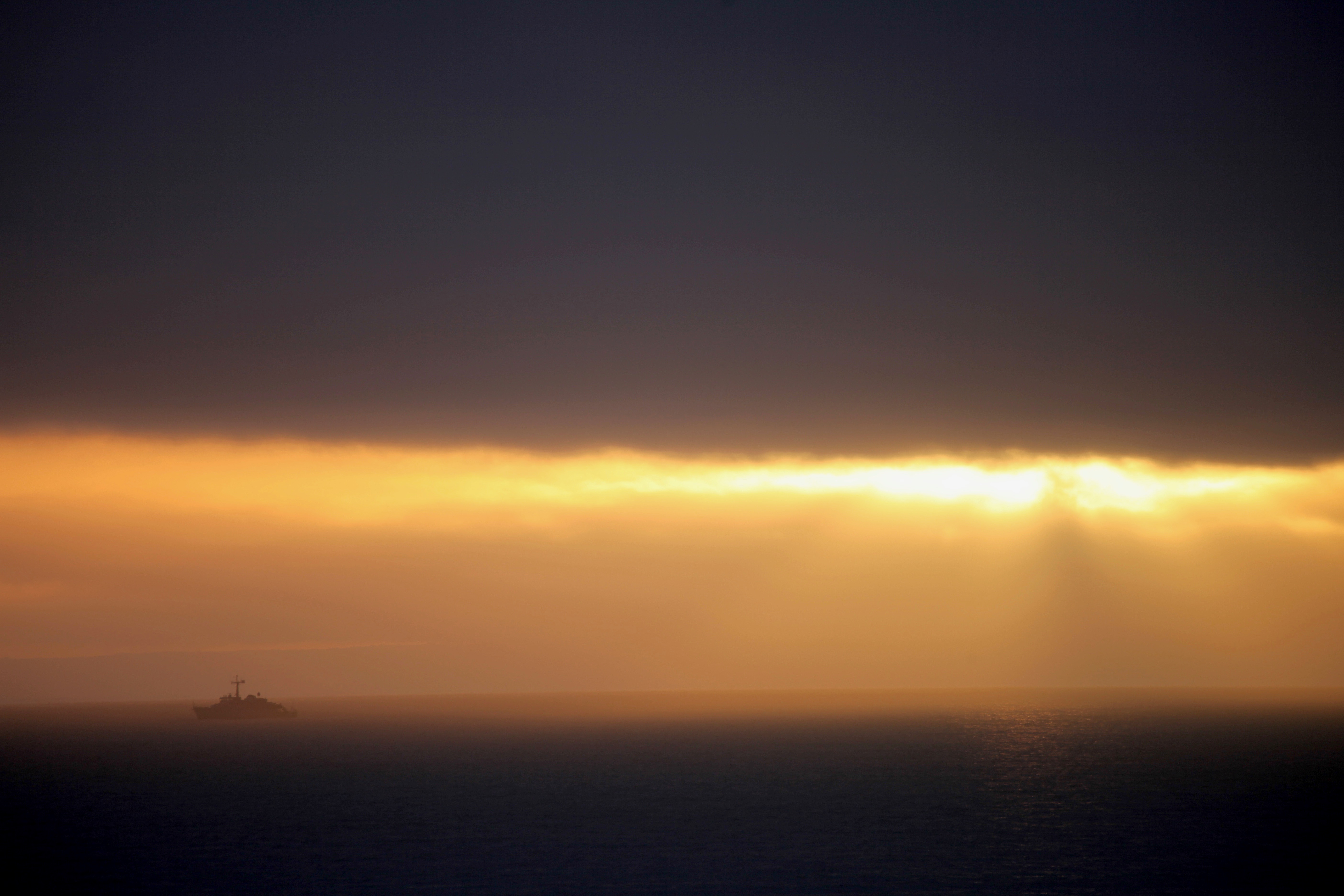 Ship in sunset 4