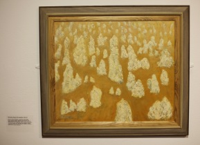 Margery's painting 11 'Pinnacles Desert, W. Australia'