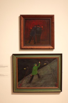 Margery's paintings 16 'Two Drunks' and 17