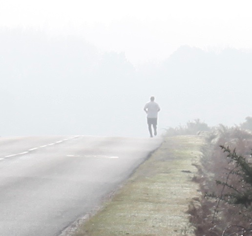 Jogger in mist