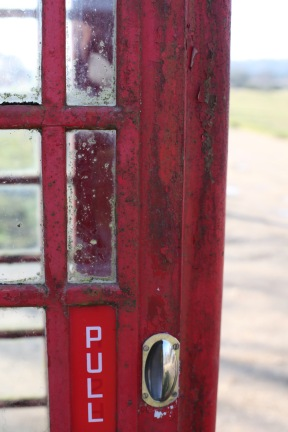 Telephone box door