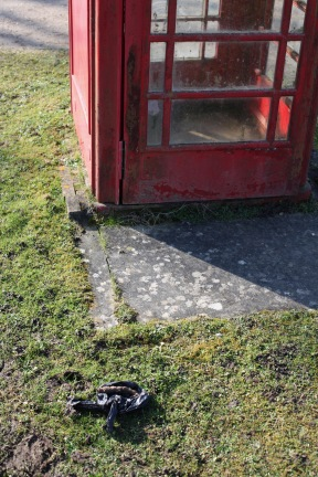 Phone box and poop scoop bag