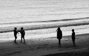 Children on beach 1