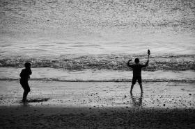 Boys on beach 2