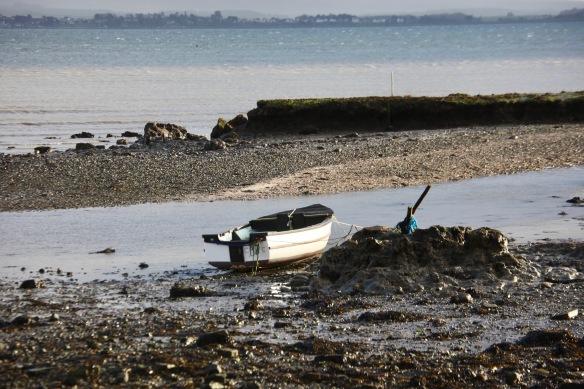 Boat on mudflats