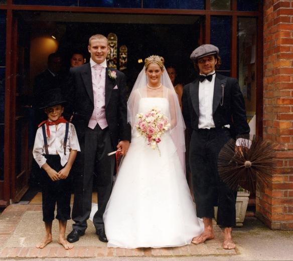 Baz and Owen attending wedding 2008