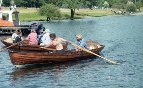 Jessica and Ali on boating lake 18.8.92