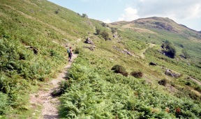 Jessica on Place Fell 18.8.92 1