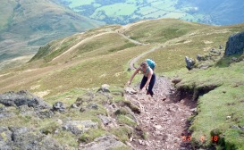 Jessica on Place Fell 18.8.92 5