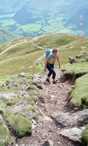 Jessica on Place Fell 18.8.92 6